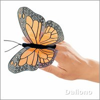 Folkmanis finger puppet mini monarch butterfly