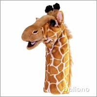 Long sleeved glove puppet giraffe