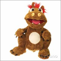 Living Puppets hand puppet Olli the small brown dragon