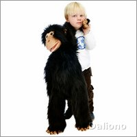 Hand puppet large chimp with banana