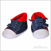 Living Puppets clothing: sneakers red/blue (65 cm hand puppets)