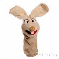 Living Puppets sockette hand puppet Mampfred the bunny