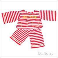 Living Puppets red-white striped pyjama (65 cm Hand Puppets)