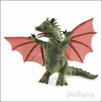 Folkmanis hand puppet winged dragon