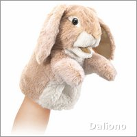 Folkmanis hand puppet little lopeared rabbit (small stage puppet)