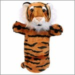 Long sleeved glove puppet tiger