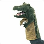 Folkmanis hand puppet crocodile (stage puppet)