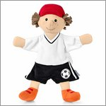 Soccer player - hand puppet for babys by Sterntaler